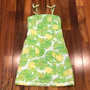 Lily Pulitzer Frog & Lily Pad Dress. Girls Size 12